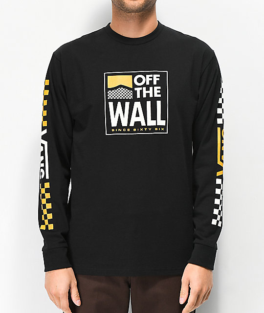 Vans Fastline Black Long Sleeve T-Shirt