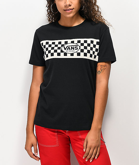 Vans Finish Line Checkerboard camiseta negra