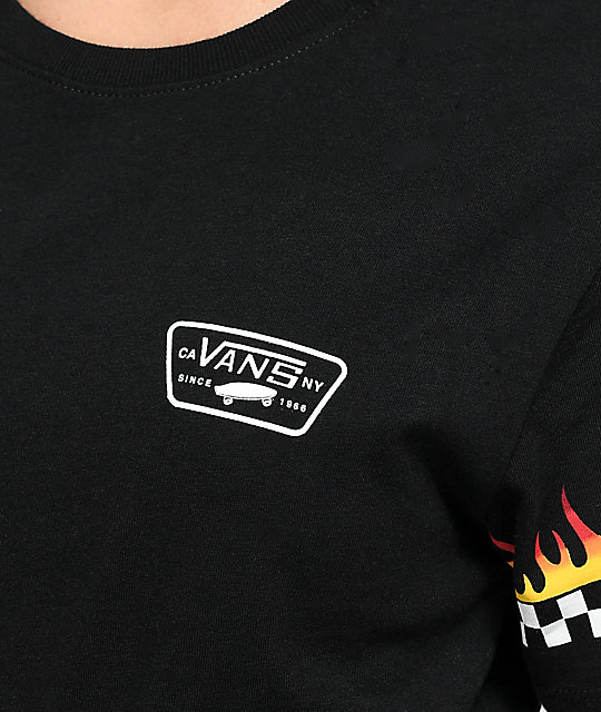 Vans Flame Checker camiseta negra