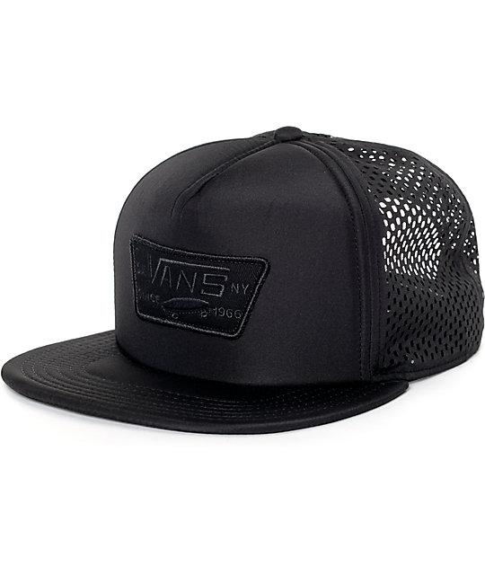 c2697433a97 Vans Full Patch Black Laser Cut Trucker Hat