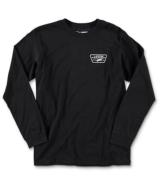596ee7e720 Vans Full Patch Boys Black Long Sleeve T-Shirt