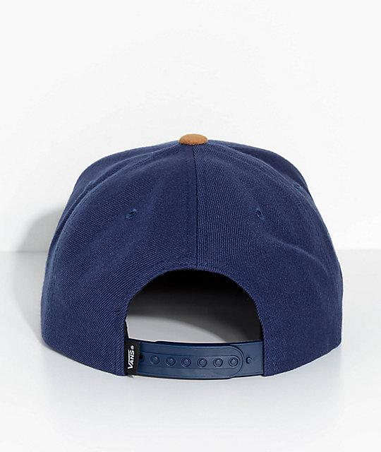 f7b407857b ... Vans Full Patch Dress Blue   Dark Khaki Snapback Hat