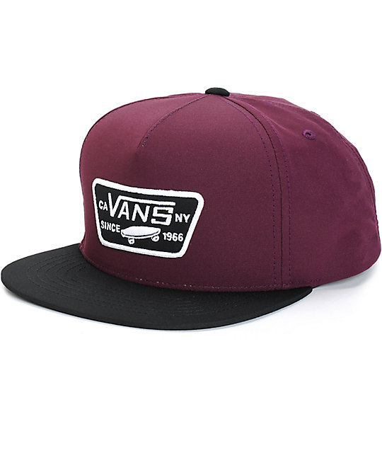 Vans Full Patch Starter Snapback Hat  86443f1e08c