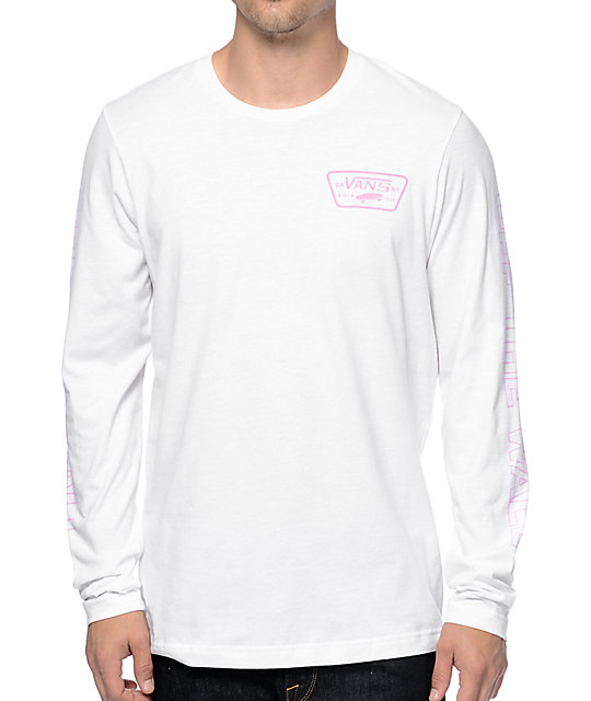 dd059c36e4 Vans Full Patch White Long Sleeve T-Shirt