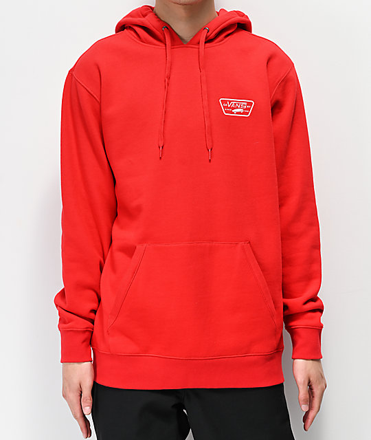 Vans Full Patched Red Hoodie