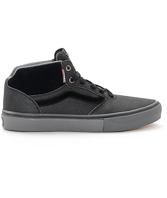 Vans Gilbert Crockett Pro Mid Xtuff Black & Grey Skate Shoes