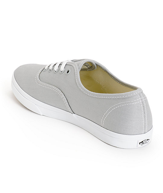 ... Vans Girls Authentic Lo Pro High Rise Grey   True White Shoes ... 2a88f8741
