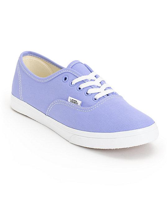 f63fb9e6ad8338 Vans Girls Authentic Lo Pro Jacaranda Purple   True White Shoes