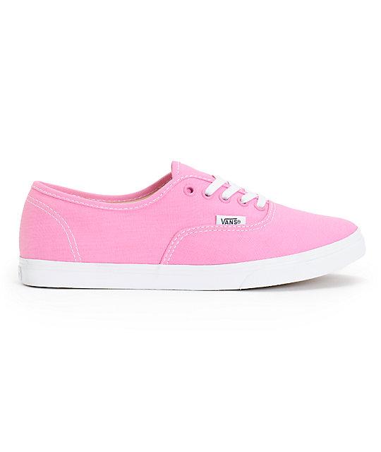 ... Vans Girls Authentic Lo Pro Rosebloom Pink   True White Shoes e10b78da6989