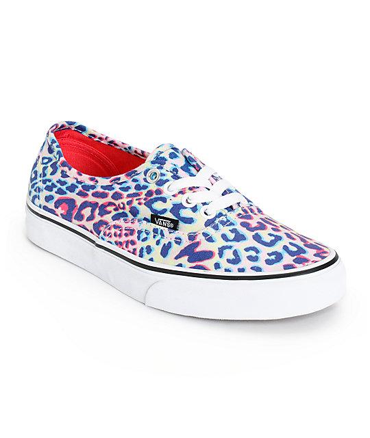 girls leopard vans
