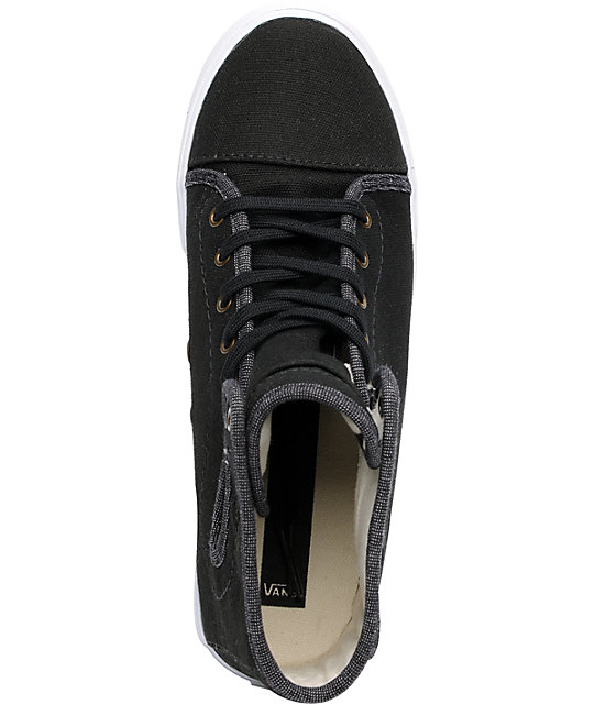 Vans Hadley Black & Khaki Canvas Skate Shoess