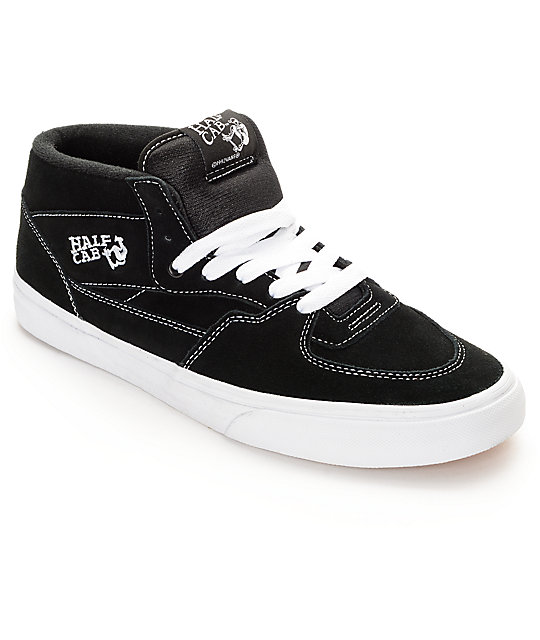 41feb87310 Vans Half Cab Black   White Skate Shoes