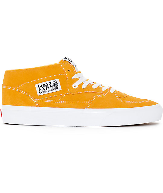 Vans Half Cab Citrus & White Skate Shoes
