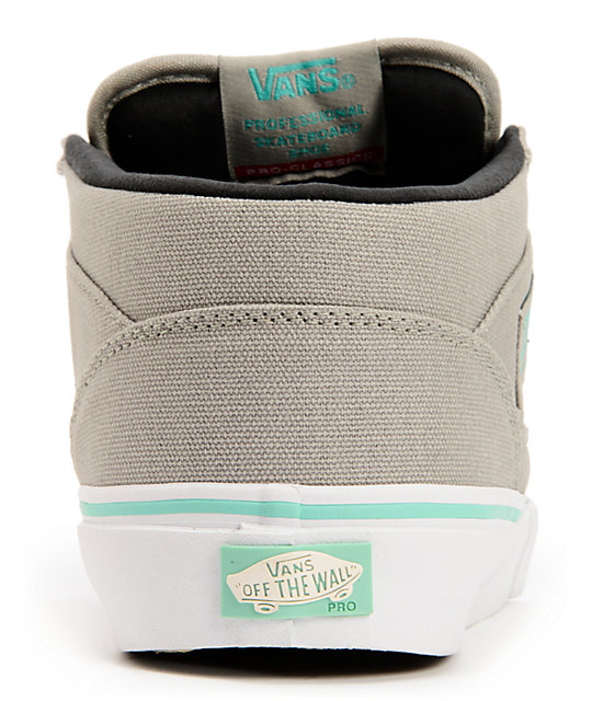 Vans Half Cab Grey & Seafoam Skate Shoes
