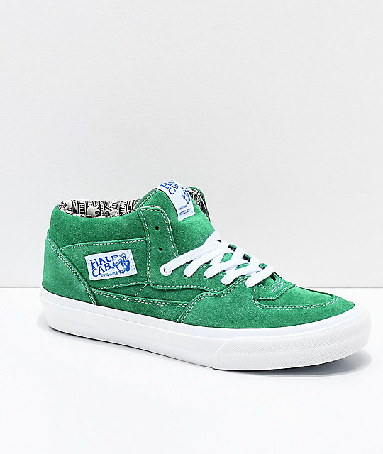 fa67c89a52 Vans Half Cab Pro Barbee Green Skate Shoes