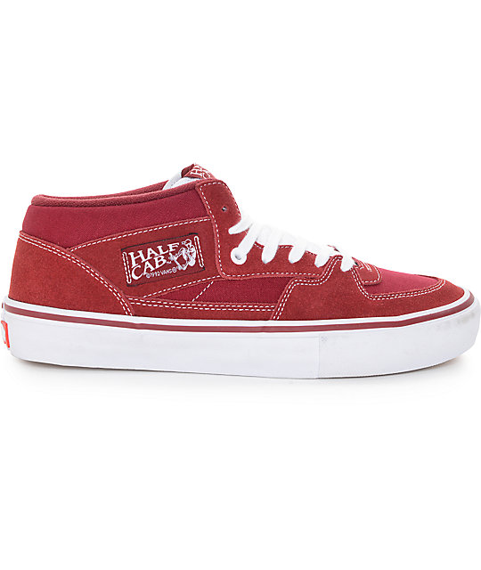 Vans Half Cab Pro Biking Red and White Skate Shoes