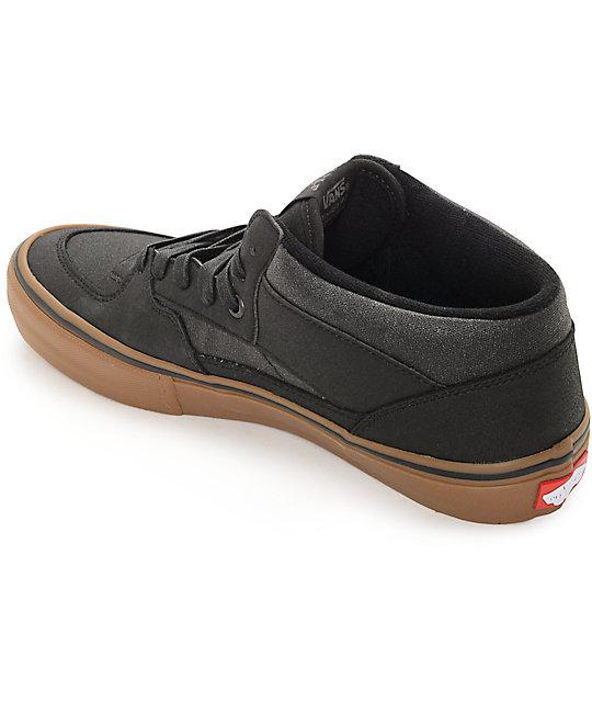 1ca3101181 ... Vans Half Cab Pro Xtuff Black   Gum Skate Shoes ...