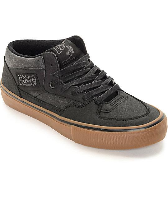 0dedba9e34 Vans Half Cab Pro Xtuff Black   Gum Skate Shoes