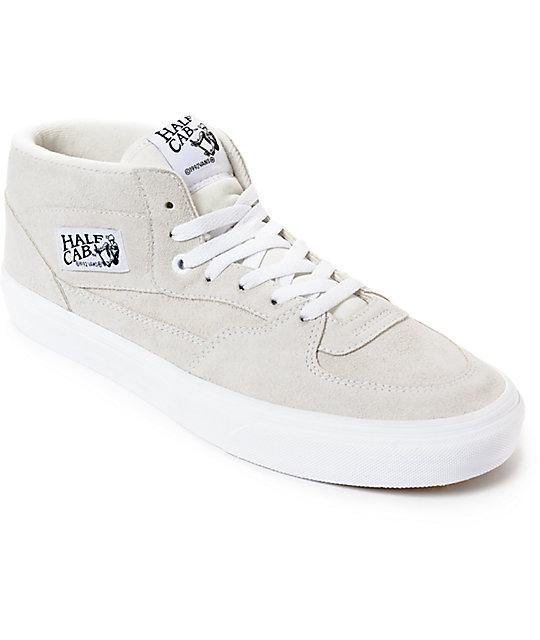 Vans Half Cab White   True White Skate Shoes  0a2a7b188