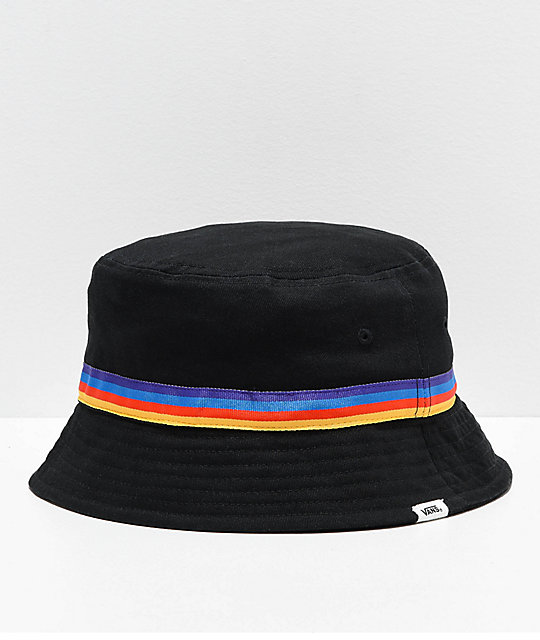 f8d71e13249a8 Vans Hankley Black   Rainbow Bucket Hat