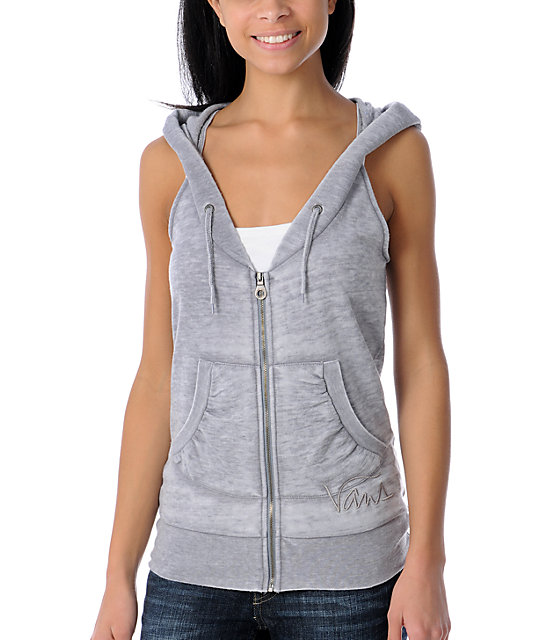 Vans Harbour Burnout Grey Sweatshirt Vest