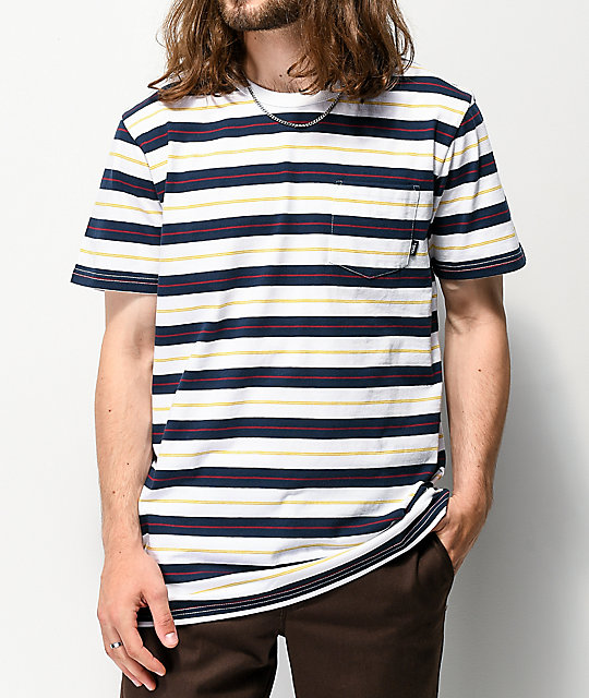 Vans Harmon Stripe White T-Shirt