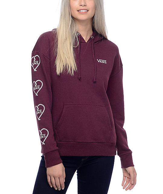 burgundy vans hoodie
