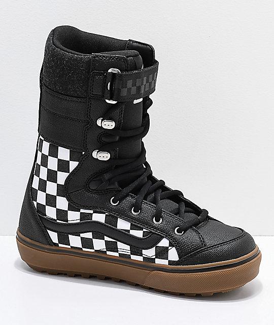 Vans Hi Standard Dx Black White Checkerboard Snowboard Boots 2019 Zumiez a948f4392