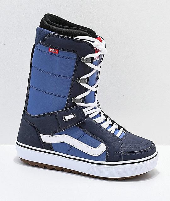 3f6b846eb6 Vans Hi-Standard OG Blue   White Snowboard Boots 2019