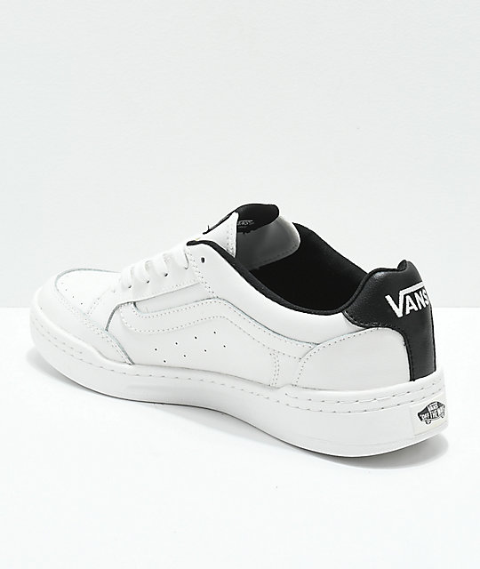 50c814c2114 ... Vans Highland Sporty Blanc   Black Skate Shoes ...