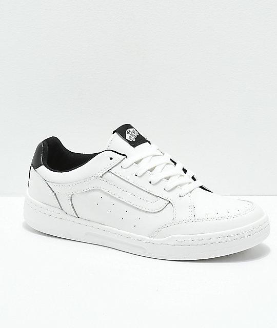 14e06b95141 Vans Highland Sporty Blanc   Black Skate Shoes