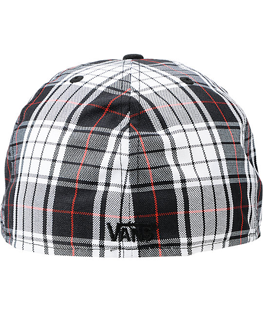 ... Vans Home Team White Plaid New Era Fitted Hat f1d14f25342