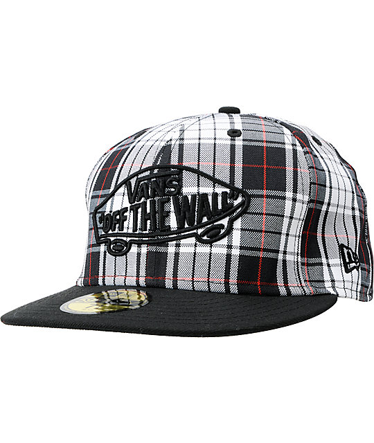 4d2410f0 Vans Home Team White Plaid New Era Fitted Hat | Zumiez