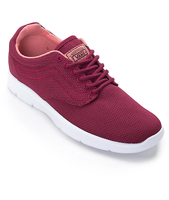 red vans woman shoes