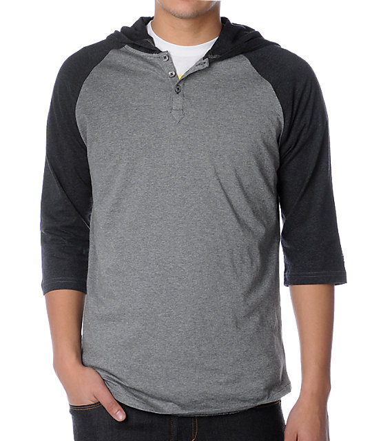 Vans J-Lay Grey Hooded Henley