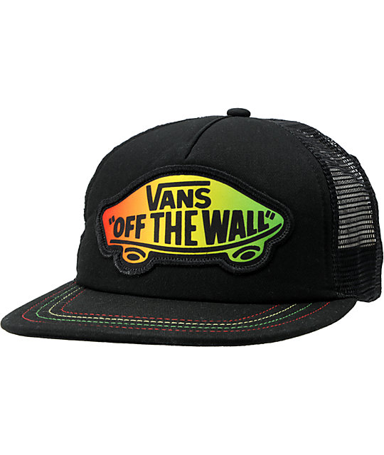 Vans Jamrock Rasta BlackTrucker Hat
