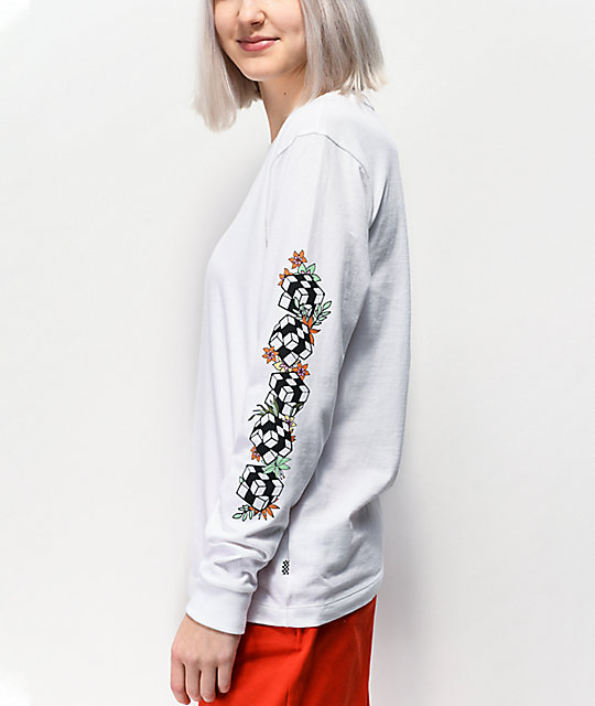 Vans Jefferspin White Long Sleeve T-Shirt