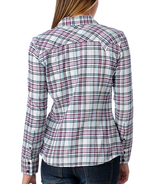 Vans Kalamazoo White Plaid Flannel Shirt