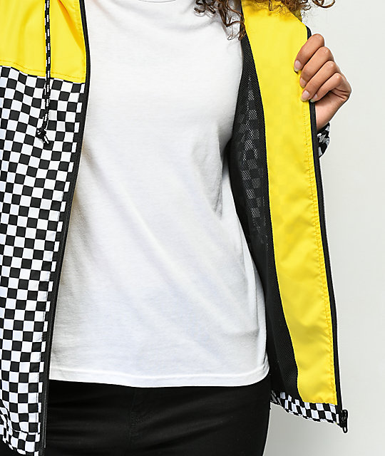 Vans Kastle II Yellow & Checkerboard Windbreaker Jacket