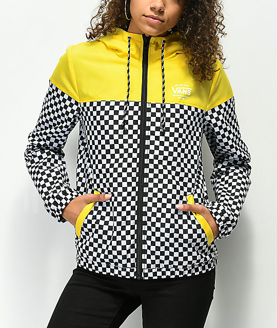 a21fab33e6 Vans Kastle II Yellow   Checkerboard Windbreaker Jacket