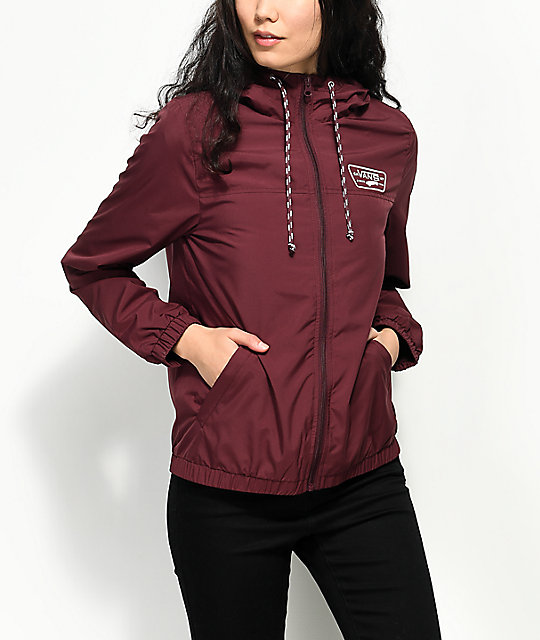 vans windbreaker womens Brown