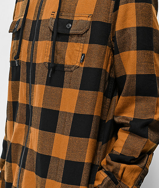 d1550aeb0c ... Vans Kenton Black   Brown Hooded Flannel
