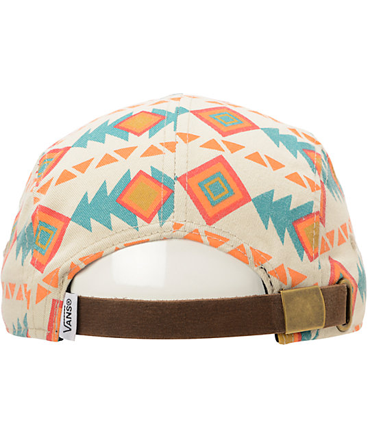 Vans Khaki Native Print 5 Panel Hat