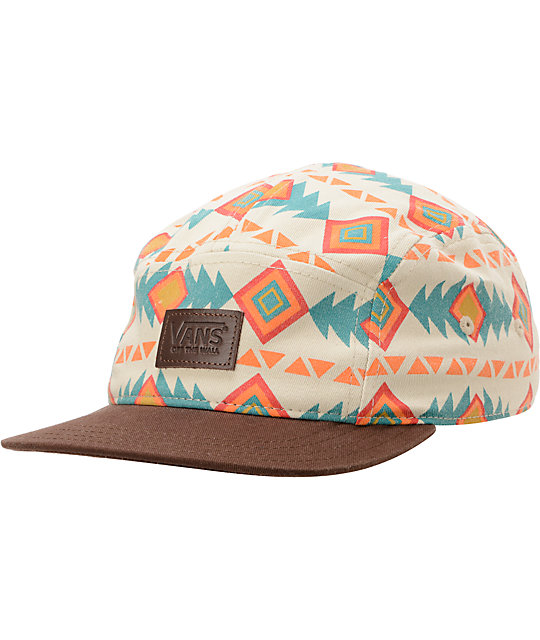 07de9b3b34c Vans Khaki Native Print 5 Panel Hat