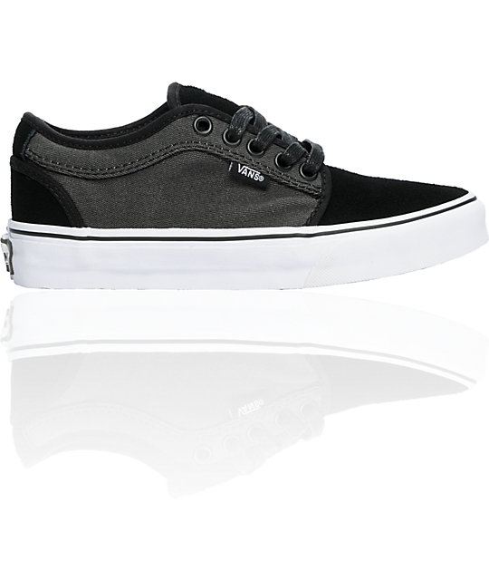 Vans Kids Chukka Low Black & Charcoal Skate Shoes