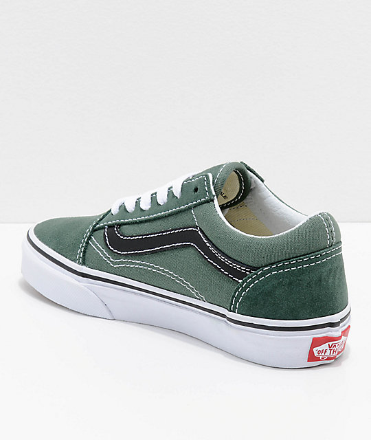 Vans Kids Old Skool Duck Green & Black Shoes