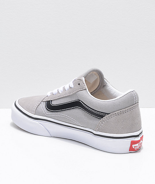 Vans Kids Old Skool Grey & Black Shoes