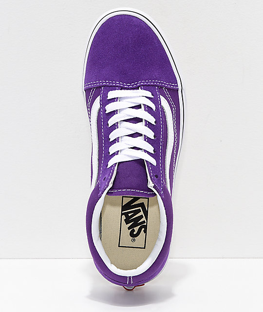 Vans Kids Old Skool Petunia & True White Skate Shoes