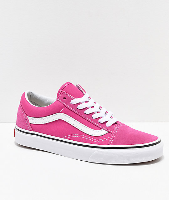 Vans Kids Old Skool Very Berry & True White Skate Shoes
