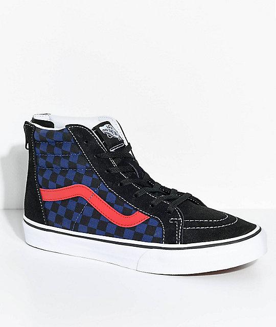 blue checkerboard vans zumiez